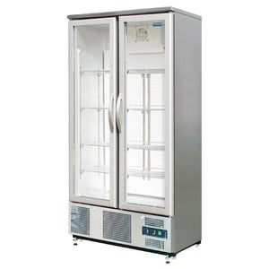 Polar Double Hinged Door Upright Back Bar Cooler