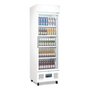 Polar Upright Display Fridge 368Ltr White