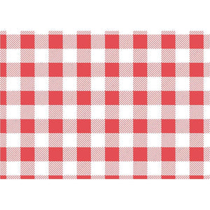 Red Checker Greaseproof Paper 250x250mm