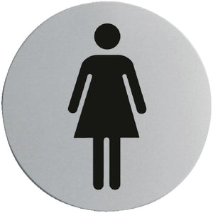 Stainless Steel Door Sign - Ladies