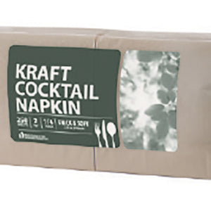 Cocktail Napkin Kraft 2ply