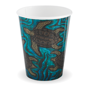 390ML / 12OZ (90MM) INDIGENOUS ART DOUBLE WALL BIOCUP