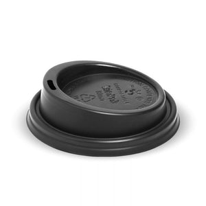 6-12OZ (80MM DIA) PLA BLACK SMALL LID