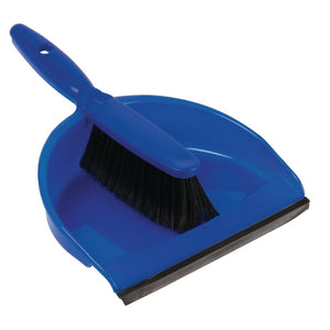 Soft Dustpan and Brush Set Blue