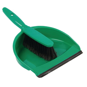 Soft Dustpan and Brush Set Green