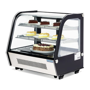 Polar G-Series Countertop Food Display Fridge Black 120Ltr