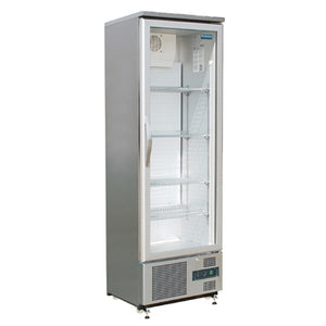 Polar Single Hinged Door Upright Back Bar Cooler 307Ltr