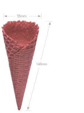 Red Waffle Cone