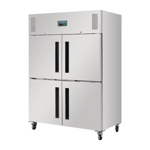 Polar 2 Stable Door Upright Fridge Stainless Steel 1200Ltr