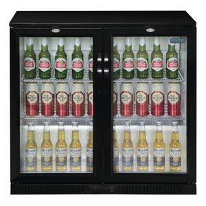 Polar G-Series Under Counter Back Bar Cooler with Hinged Doors 198Ltr