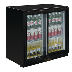 Polar G-Series Under Counter Back Bar Cooler with Sliding Doors 198Ltr