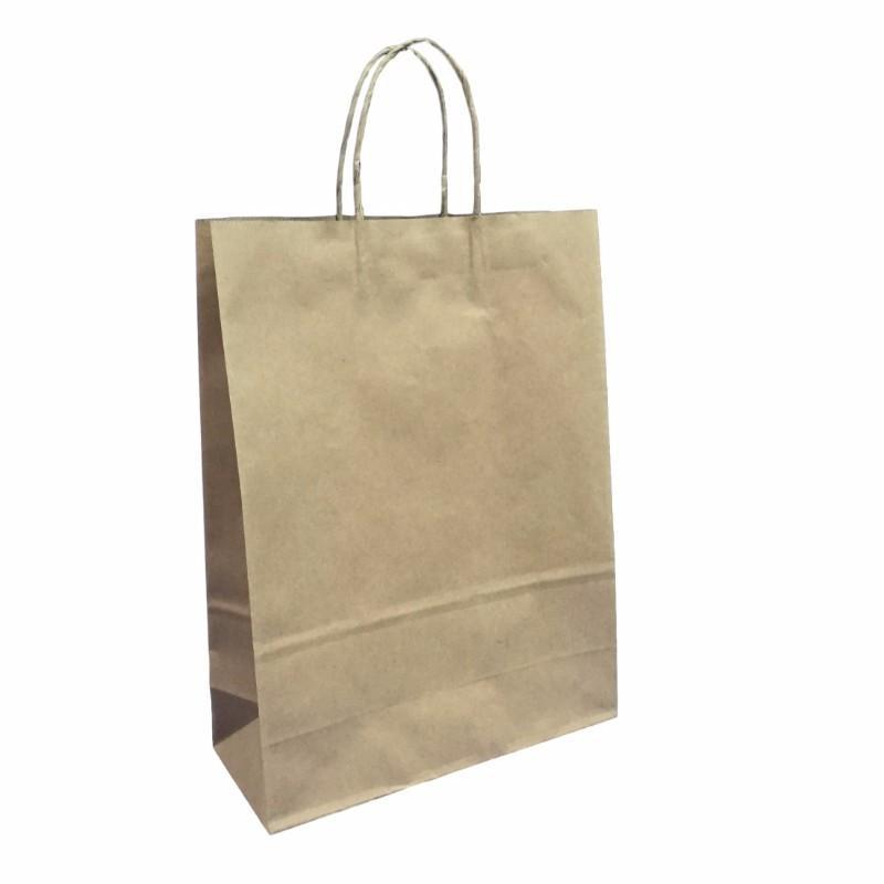 Kraft Paper Carry Bags Large