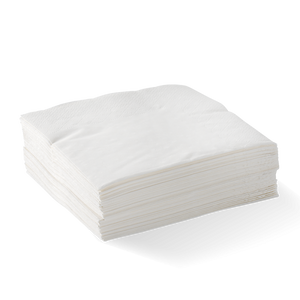 2-PLY 1/4 FOLD WHITE CORNER EMBOSSED DINNER BIONAPKIN