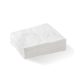 1-PLY 1/4 FOLD WHITE LUNCH BIONAPKIN