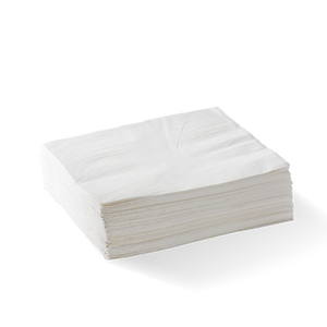 2-PLY 1/4 FOLD WHITE LUNCH BIONAPKIN