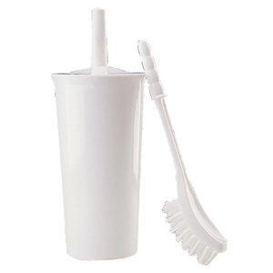 Toilet Brush and Holder White