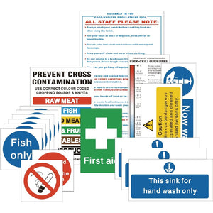 Hygiene Catering Sign Pack