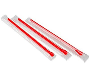 Spoon Straw Red Individually Wrapped