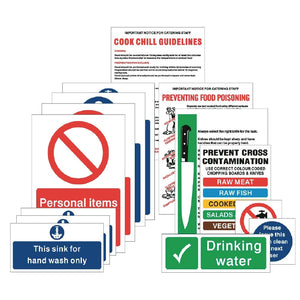 Food Preparation Sign Pack