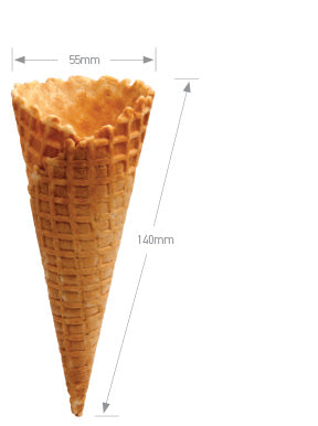 Altimate Natural Waffle Cone B