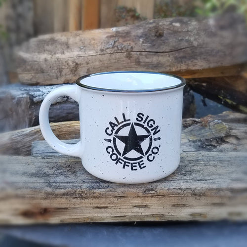 White Campfire Coffee Mug