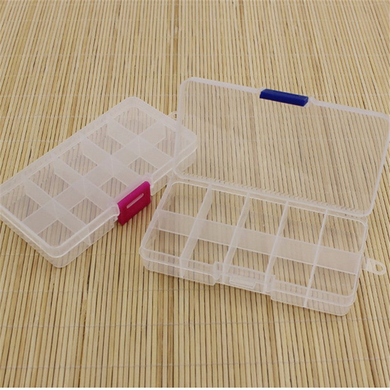 PLASTIC STORAGE BOX FOR HOOKS AND LURES and other bits and pieces. . Plastic with 10 compartments. 1 Piece per package.