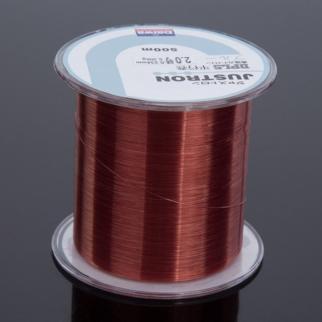 FLUOROCARBON NYLON Fishing line. 500 metres long. Super strong high quality line. Made in JAPAN. Monofilament.