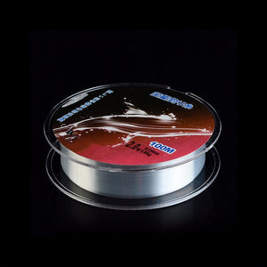 FLUOROCARBON NYLON Fishing line. Very high quality wear resistant line. Transparent.  100 metres long. Wear resistant.