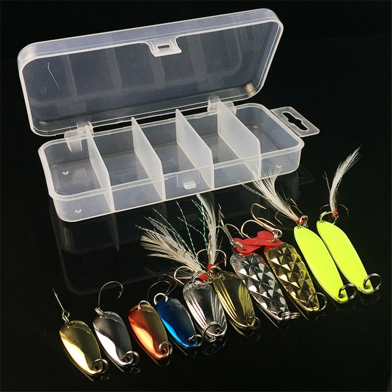 METAL SPOON LURE / BAIT. High grade 3 gms-5.5 gms - with a sharp single hook. 10 Pieces per package.