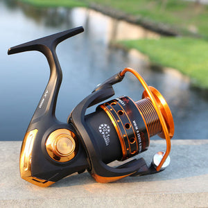 Spinning Fishing Reel 12BB + 1 Bearing Balls 500-9000 Series.