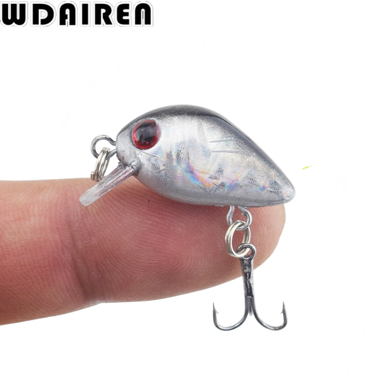 CRANK FISHING LURES. Mini size. 3 cm long and 1.2 gms in weight. 1 Piece per package.
