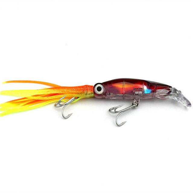 SQUID FISHING LURE. High quality good sized bait . 23 cm long. 44 gms in weight. 1 Piece per pack.
