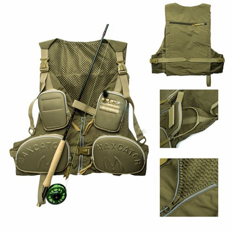 Utility vests - designed for outdoor activities like fishing