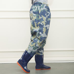Waist high fishing waders