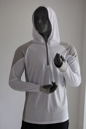 Men's sportswear top with a hoodie