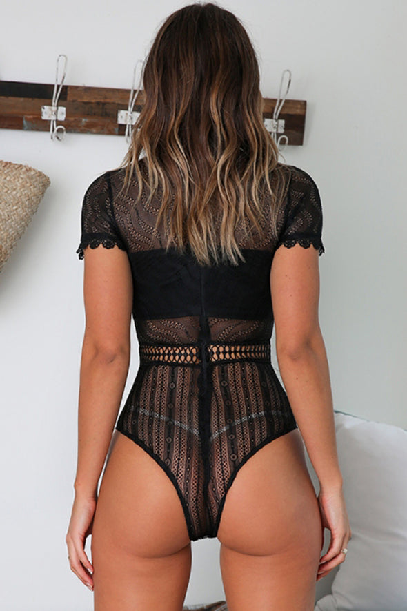 Black Melted Heart Bodysuit - Party Girl Fashion Exclusives