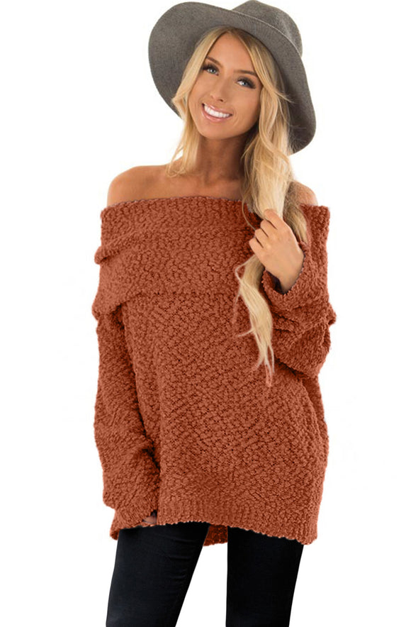 Off The Shoulder Comfy Sweater - Party Girl Fashion Exclusives