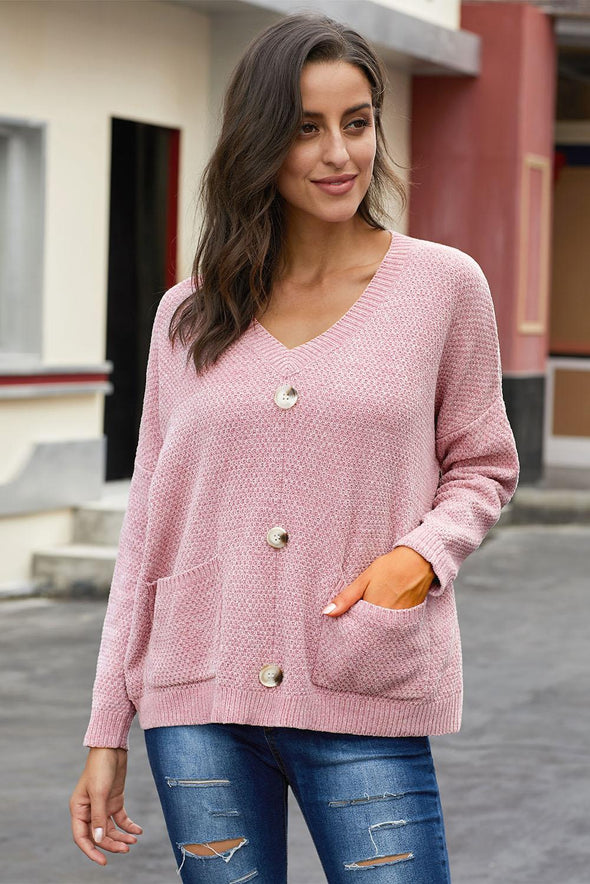 Pink Swoon And Snuggles Chenille Shift Sweater - Party Girl Fashion Exclusives