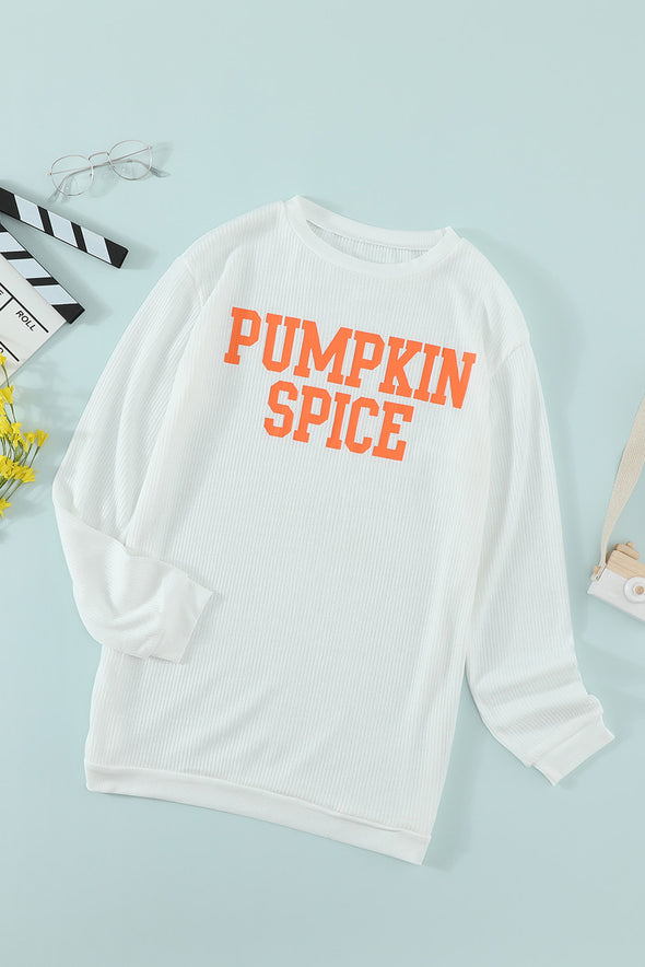 PUMPKIN SPICE Graphic Pullover Knit Top - Party Girl Fashion Exclusives