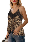 Khaki Leopard Print Casual Tank Top - Party Girl Fashion Exclusives