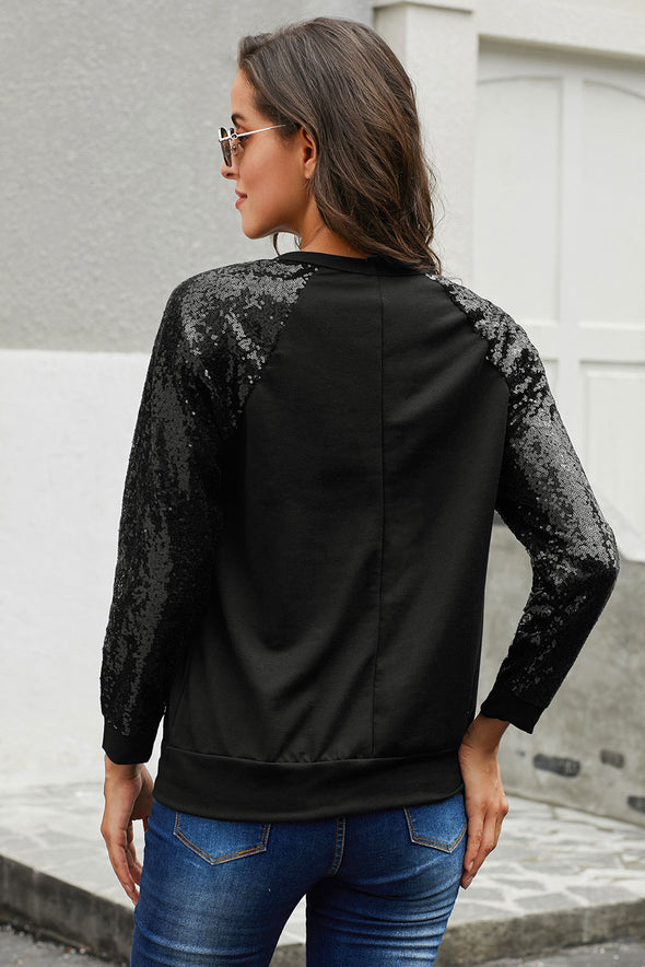Black Sequin Knit Top - Party Girl Fashion Exclusives
