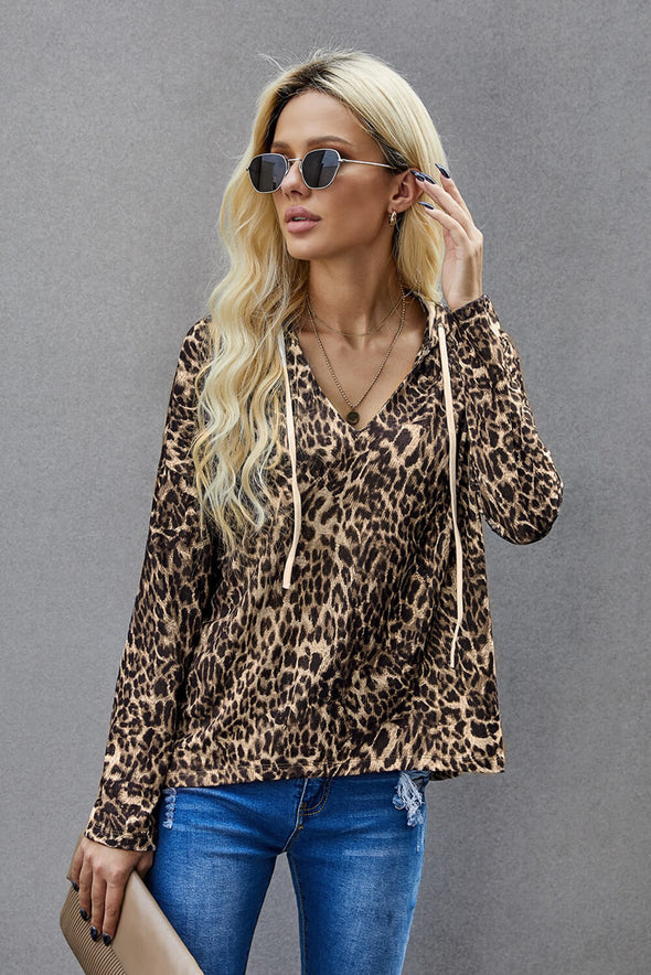 Brown Leopard Hoodie - Party Girl Fashion Exclusives