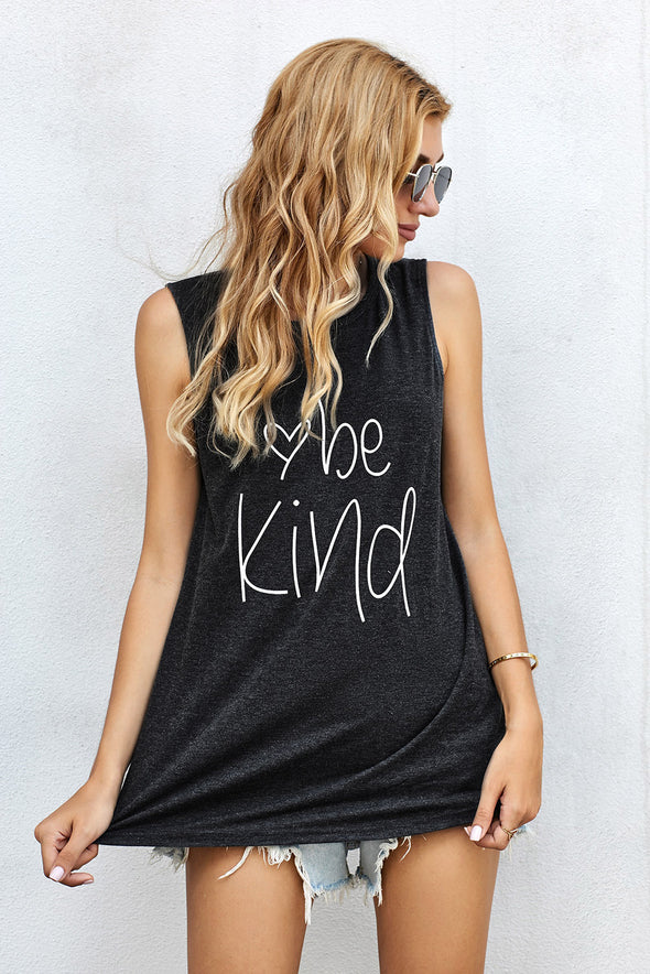 Be Kind Gray Tank Top - Party Girl Fashion Exclusives