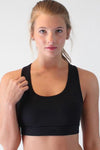 Black Back Pocket Sport Bra - Party Girl Fashion Exclusives