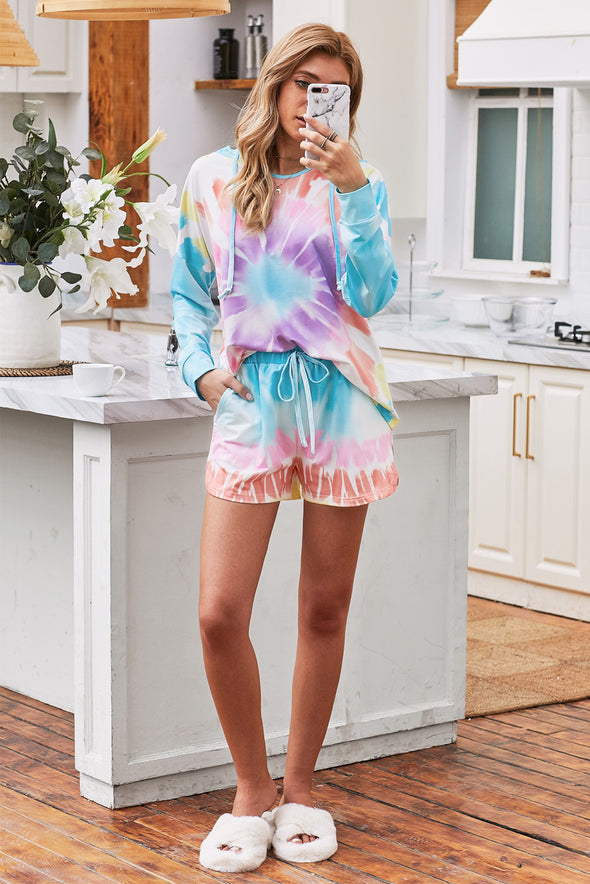 Multicolor Sweatshirt Shorts Set - Party Girl Fashion Exclusives