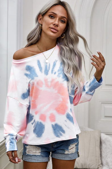 Pink Tie Dye Pullover Top - Party Girl Fashion Exclusives