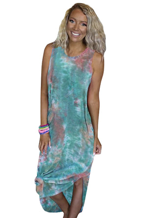 Blue Tie Dye Midi Dress - Party Girl Fashion Exclusives