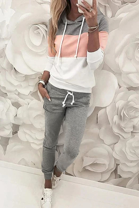 Pink Hooded Top & Pant Set - Party Girl Fashion Exclusives