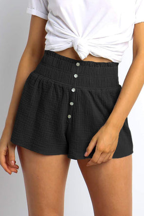 Black Banner Shorts - Party Girl Fashion Exclusives