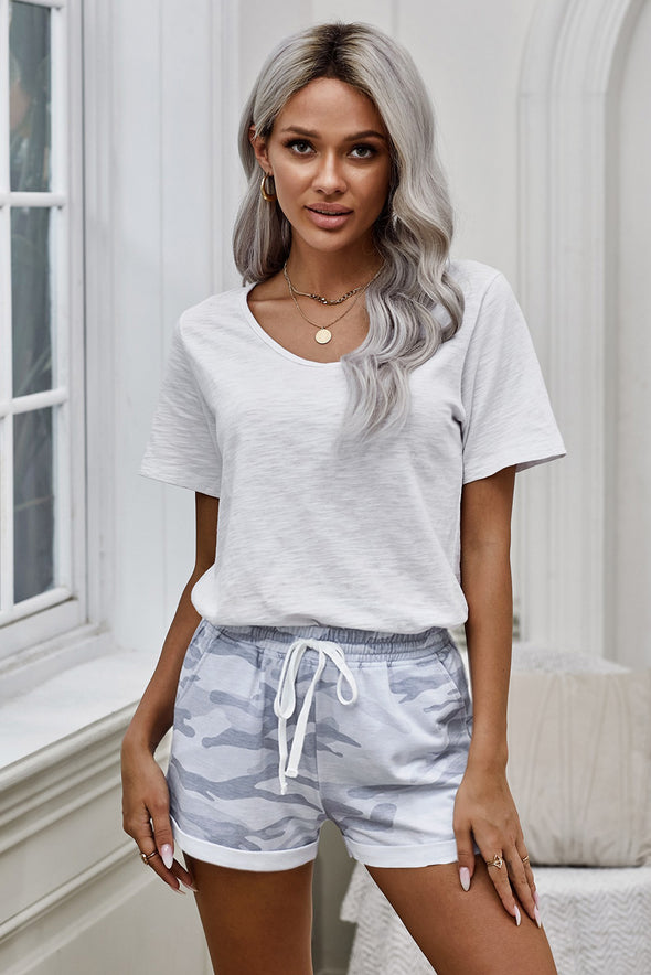 Gray Camo Shorts - Party Girl Fashion Exclusives